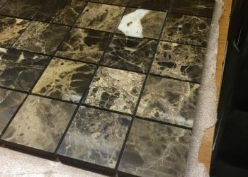 Испанская плитка мозаика из настоящего мрамора. Ликвидация слада.