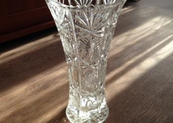 ваза хрустальная высокая