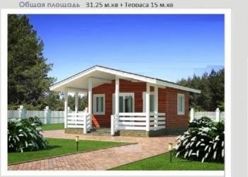 Строим дачные и загородные дома мансарды проект 31кв.м. 5х6.2м+ терраса 15 кв.м.