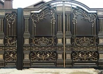 Ворота с калиткой кованые