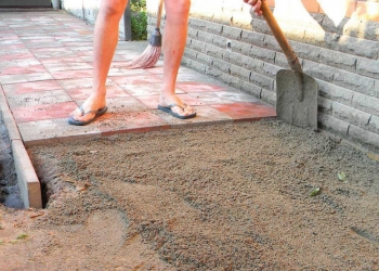 Тротуарная плитка укладка в Воронеже.