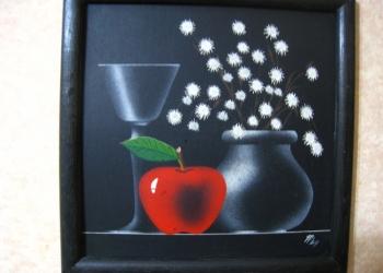 """Картина """"Натюрморт с яблоком"""""""