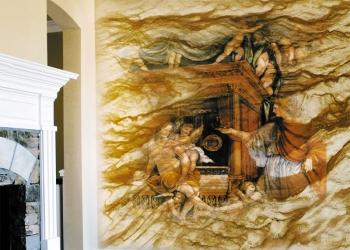 Нанесение фресок на ГИБКИЙ КАМЕНЬ