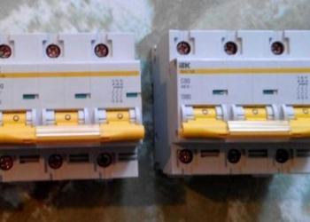 Автоматы IEK 47-100 на 80 и 100А