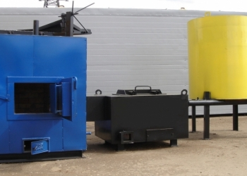 Промышленный водогрейный котел КВр-1,0Дмг  1МВт на твердом топливе