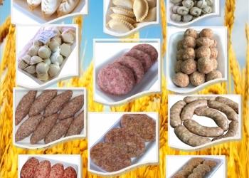 полуфабрикаты мясные, вареники, творог.
