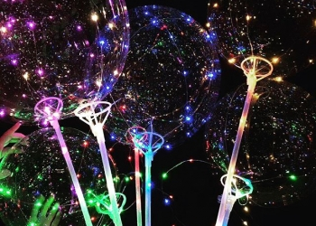 Воздушные светящиеся шары Бобо