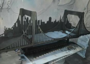 """Полка-мост """"Золотые ворота"""" для моделей и книг (длина 1,5 метра)"""