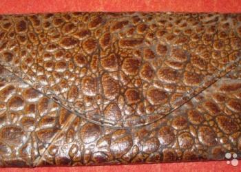 Кошелёк портмоне бумажник коричневый удобный СССР