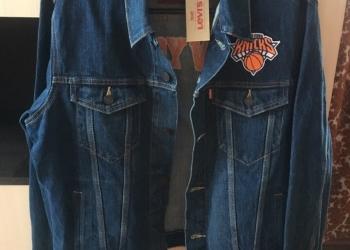 Джинсовая куртка кастомная Levis NBA NY Knicks