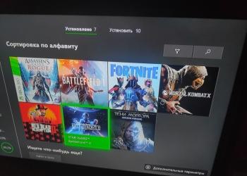 Xbox one s, 2 геймпада, 10 крутых игр.