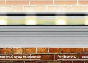 Светодиодный светильник для подсветки фасадов