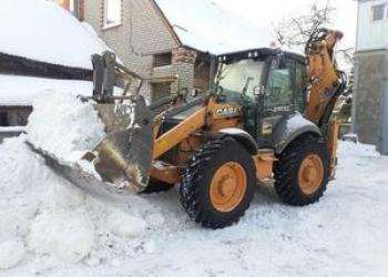 УСЛУГИ ЭКСКАВАТОРА ПОГРУЗЧИКА, почистим снег