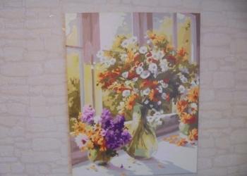 "Картина ""Букеты на окне"""