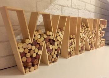 Копилка слово Wine для коллекции винных пробок
