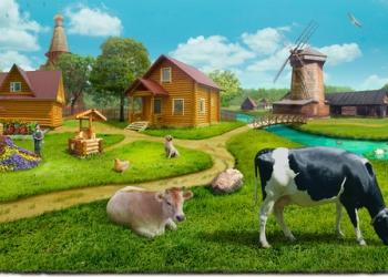 Тракторист на ферму