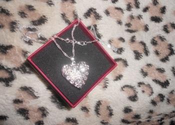 Серебро 925 цепочка с кулоном сердце ажурное!