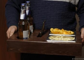 Поднос деревянный для пива - пивница