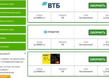 Сайт по банковским услугам