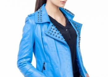 Эксклюзивная женская кожаная куртка, новая коллекция весна-лето 2015