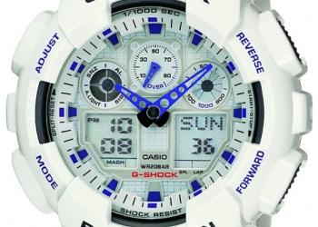 Продам Часы G-shock GA-100A, белые