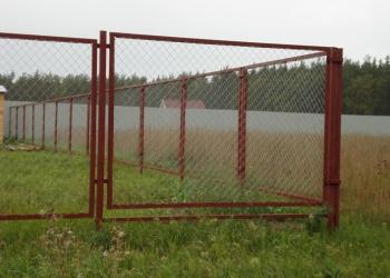 Заборные секции с сеткой рабицей