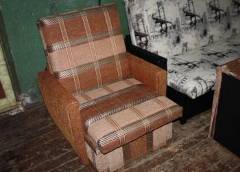 """Кресло выкатное """"Шенилл светло-коричневая клетка"""" 60 см"""