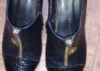 туфли жен 37 черн цвета,на молнии-150руб