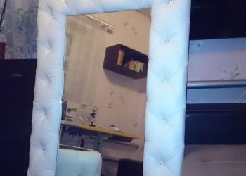 Зеркало в кожаной раме (мебель от производителя)