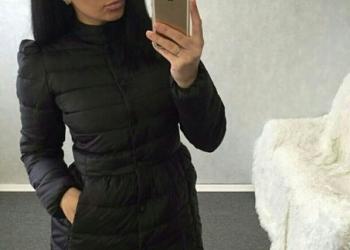 Осенняя чёрная куртка 46 р-ра