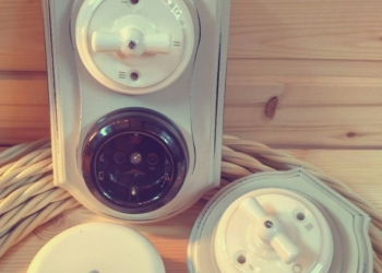 Ретро-розетки, выключатели и переключатели