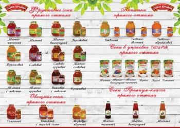 Натуральные 100% соки прямого отжима и плодоовощная консервация оптом ГОСТ