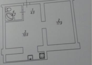 1-к квартира, 45 м2, 2/10 эт.
