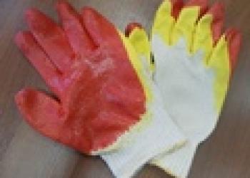 Перчатки х/б с латексным покрытием  2-ой облив 13 класс