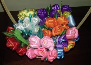 Букет тюльпанов магнит