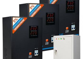 Трехфазный релейный стабилизатор напряжения Энергия Voltron 30000 (HP)