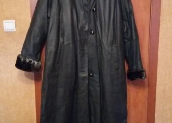 Кожанное пальто