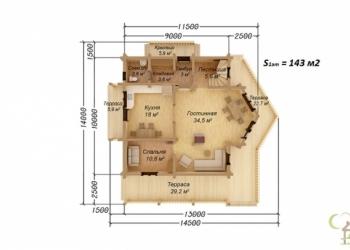 Каркасный дом Проект КД-32 для крулогодичного проживания