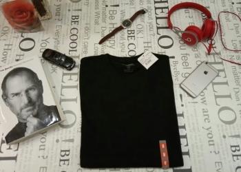 Новые однотонные мужские футболки. Размер 46-48