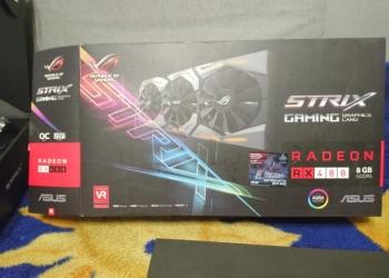 Продам видеокарту Asus AMD Radeon RX 480 STRIX OC 8Gb
