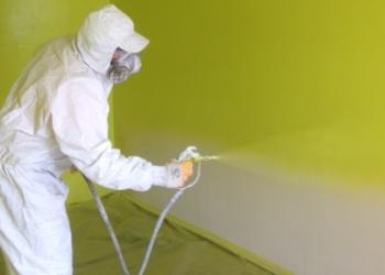 Механизированное шпаклевание, окраска и флифовка стен и потолков