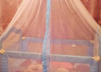 Кроватка для мальчиков ( голубая)