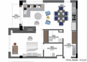 Будва, престижная квартира в 20 м. от моря