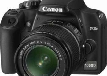 Продам зеркальный фотоаппарат canon (цанон) eos 1000d kit 18-55