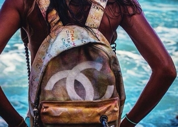 Шанель графит (рюкзак Chanel 1 в 1)