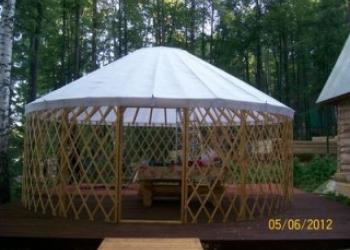 Юрта-беседка -уютный уголок Вашей дачи для комфортного отдыха