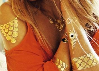 Flash tattoo/Gold tattoo/Золотые тату/Флеш тату