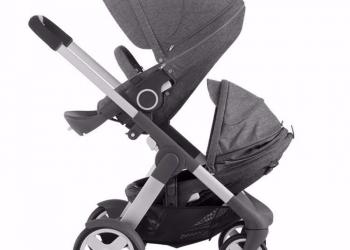 Stokke Crusi Complete In Black Melange - Stroller And Carrycot