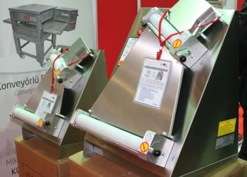 Тестораскаточные машины от 0,1 мм толщины теста, ширина от 30 см до 60 см.