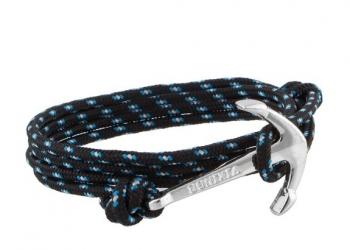 Браслет с якорем Vikings Silver синий RM132